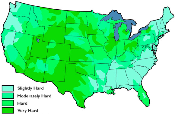 Hard Water Areas >> Hard Water Areas In The United States